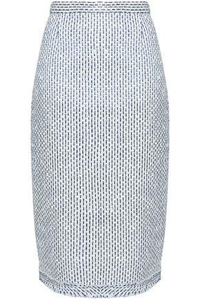 ROLAND MOURET Striped tweed skirt
