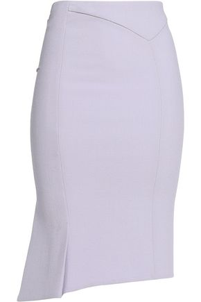 ROLAND MOURET Pleated crepe skirt