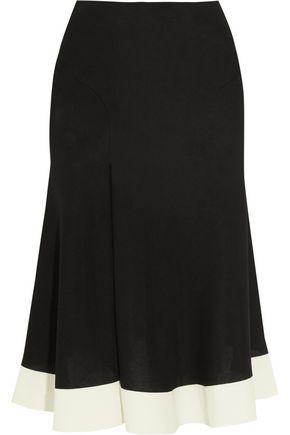 ESTEBAN CORTAZAR Bonded cady-trimmed stretch-jersey skirt