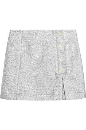MAISON KITSUNÉ Metallic cotton-blend cloqué mini skirt