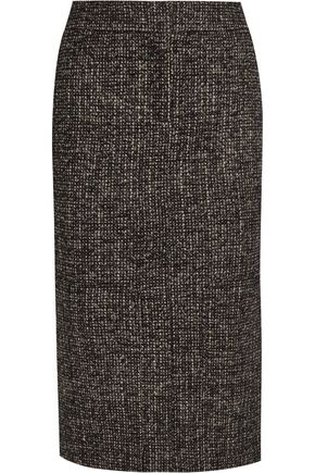 TOM FORD Zip-embellished wool-blend tweed pencil skirt