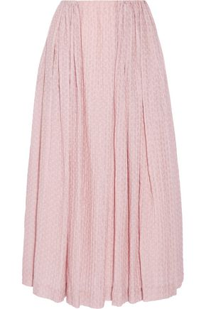 EMILIA WICKSTEAD Poppy cloqué midi skirt