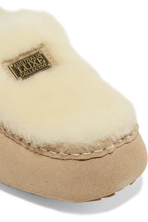 AUSTRALIA LUXE COLLECTIVE Piquet shearling slippers