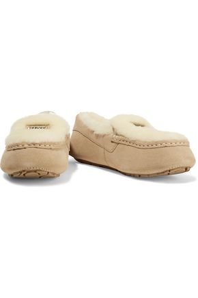 AUSTRALIA LUXE COLLECTIVE Piquet shearling-lined suede moccasins