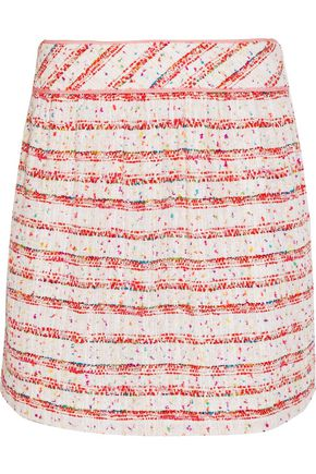 BOUTIQUE MOSCHINO Cotton-blend bouclé mini skirt