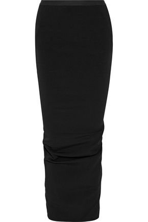RICK OWENS Cotton-blend faille maxi skirt