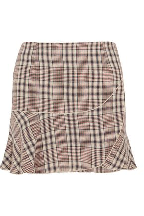 ISABEL MARANT ÉTOILE Jevil plaid linen mini skirt