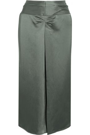 ISABEL MARANT Rise ruched satin skirt