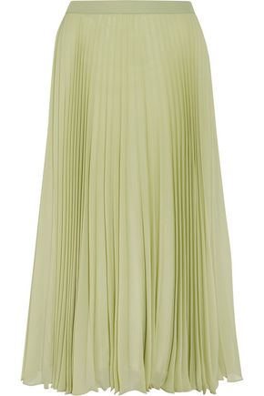 MAISON MARGIELA Pleated chiffon midi skirt