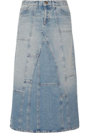 CURRENT/ELLIOTT The DIY patchwork denim maxi skirt