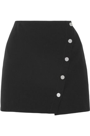 VERSACE Asymmetric cady wrap mini skirt