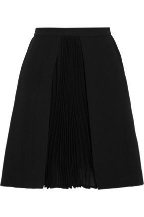 VERSUS VERSACE Pleated woven mini skirt