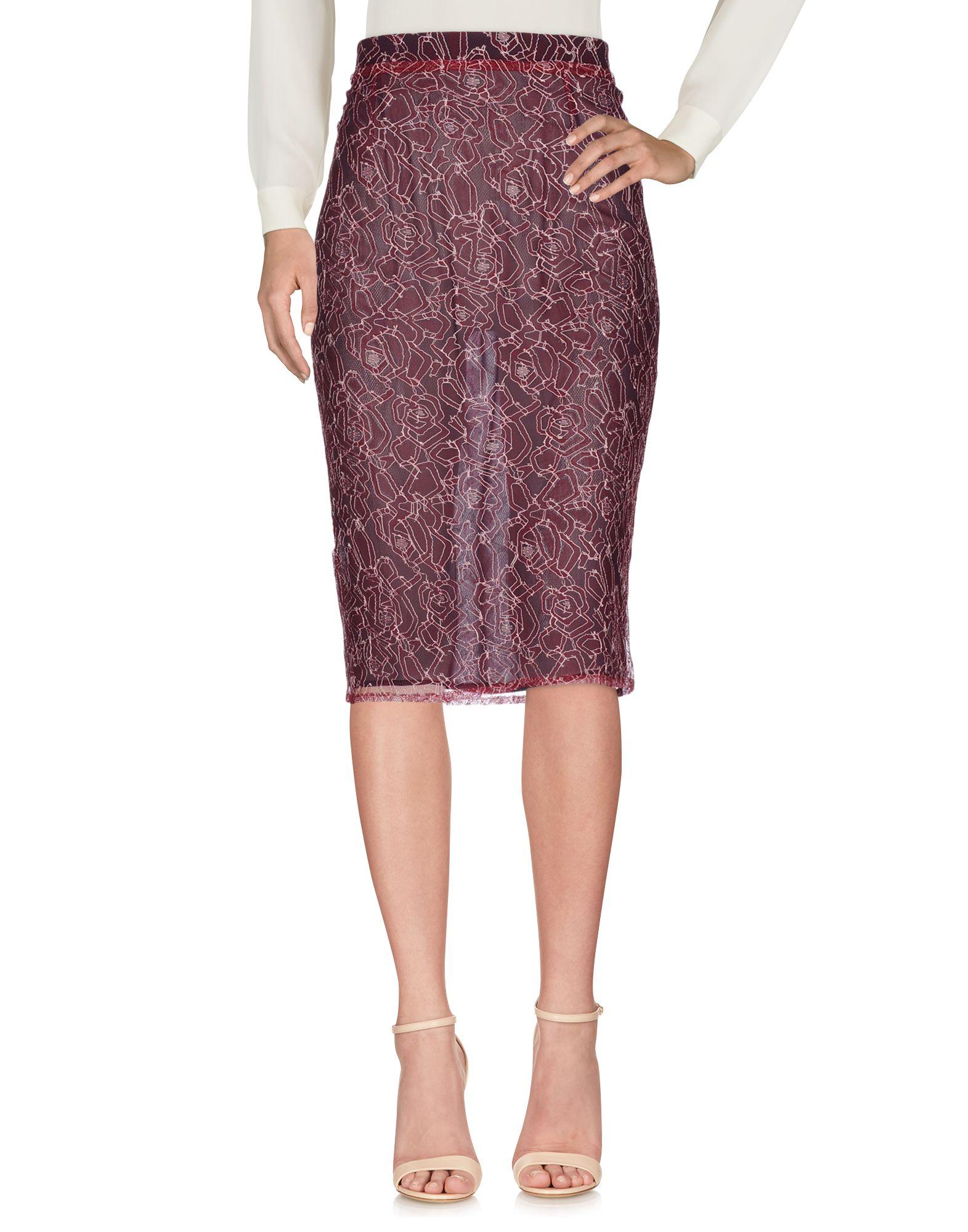 《セール開催中》ROSEANNA レディース 7分丈スカート ディープパープル 38 ナイロン 60% / レーヨン 40% / シルク