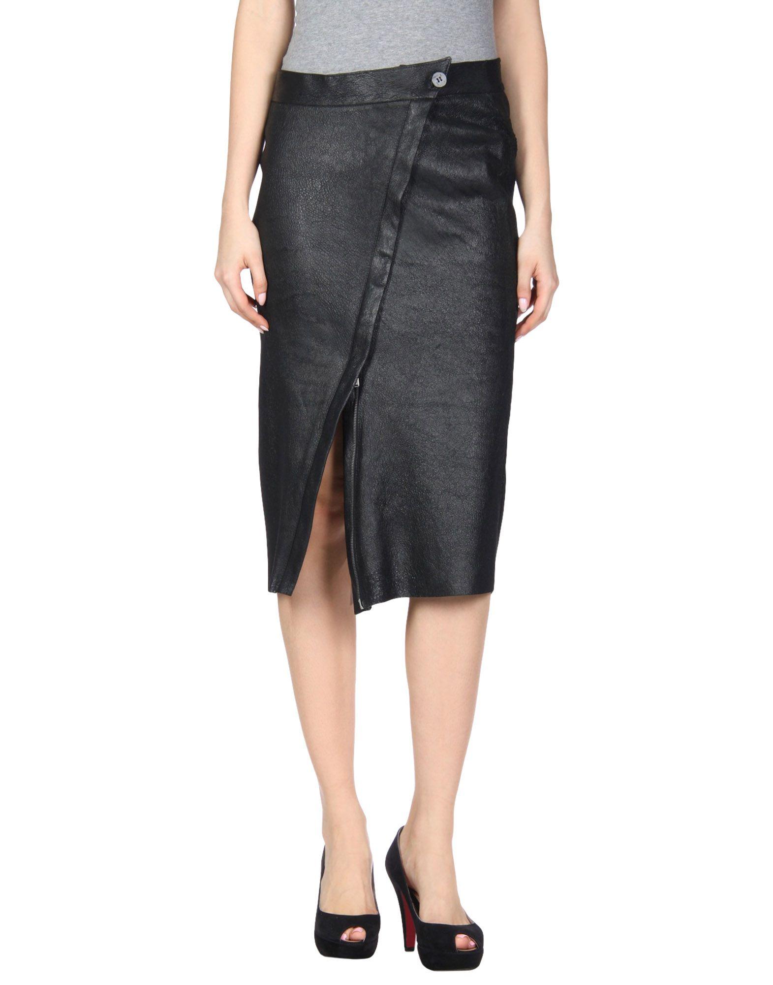 10SEI0OTTO Midi Skirts in Black