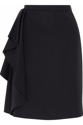 LANVIN Ruffled wool skirt