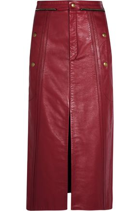 CHLOÉ Leather pencil skirt