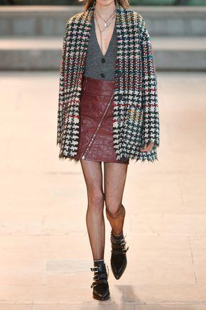 ISABEL MARANT Breezy crinkled faux leather mini skirt