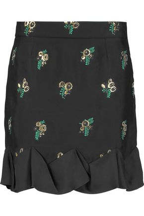 STELLA McCARTNEY Embroidered twill mini skirt