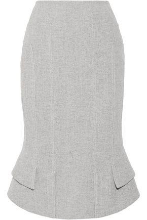 TOM FORD Asymmetric wool-blend skirt