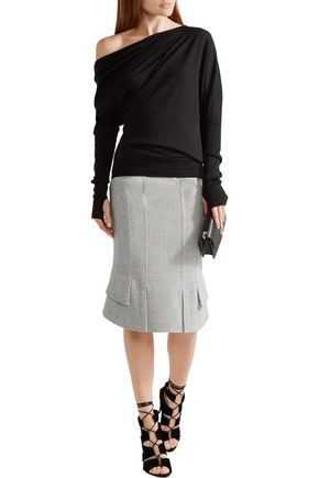 TOM FORD Asymmetric wool-blend skirt