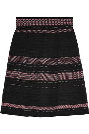 M MISSONI Metallic crochet-knit skirt