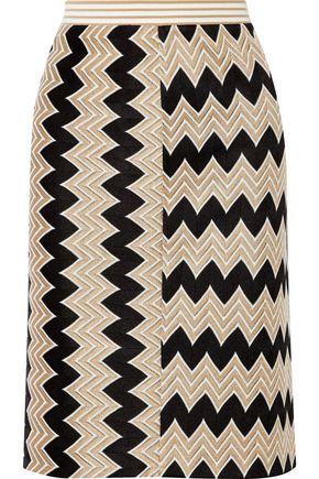 MISSONI Paneled crochet-knit skirt