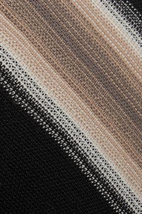 MISSONI Striped crochet-knit wool mini skirt