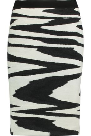 MISSONI Intarsia wool skirt