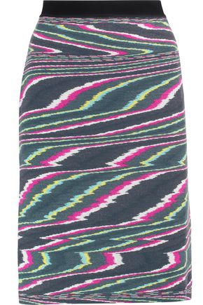 MISSONI Intarsia wool skirt