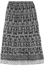 JOIE Cyprine printed silk-georgette skirt