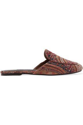 NEWBARK Liza paisley-print corduroy slippers