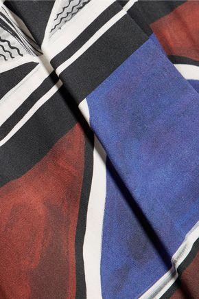 STELLA JEAN Pleated printed cotton-blend skirt