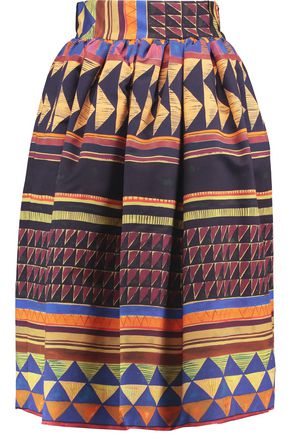 STELLA JEAN Printed cotton-blend skirt