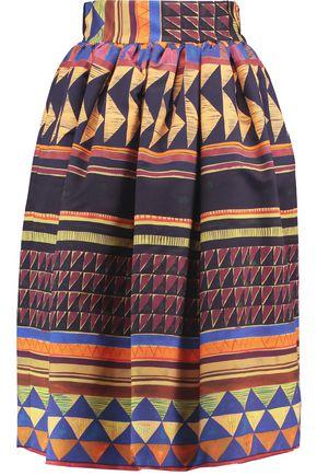 STELLA JEAN Printed cotton-blend skirt