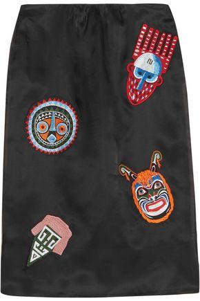 STELLA JEAN Appliquéd silk-organza skirt