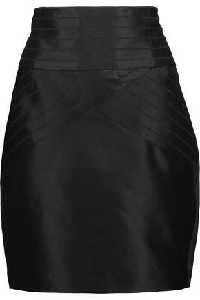 PIERRE BALMAIN Striped satin mini skirt