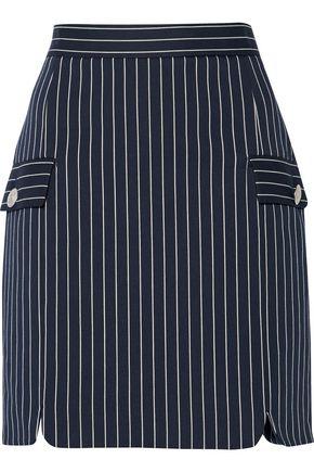 PIERRE BALMAIN Striped cotton-blend mini skirt