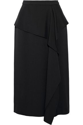 JASON WU Draped hammered-silk skirt