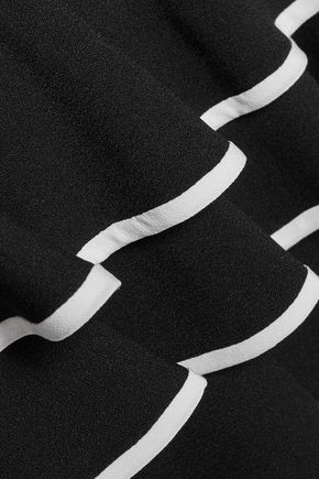 JONATHAN SIMKHAI Ruffled tiered crepe mini skirt