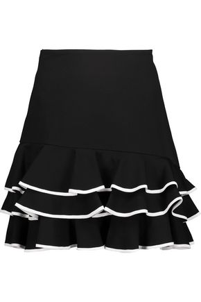 JONATHAN SIMKHAI Ruffled tiered crepe mini skirt