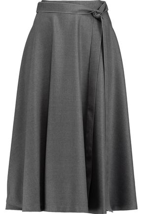 Nancy twill midi skirt