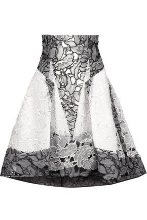 PETER PILOTTO Radial pleated silk-guipure lace skirt