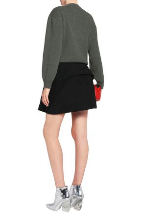 J.W.ANDERSON Folded faux suede mini skirt