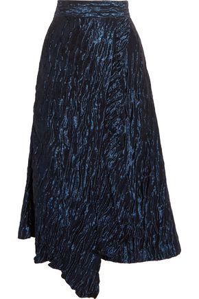 PETER PILOTTO Ruffled asymmetric metallic jacquard skirt