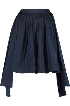 MSGM Pleated taffeta mini skirt
