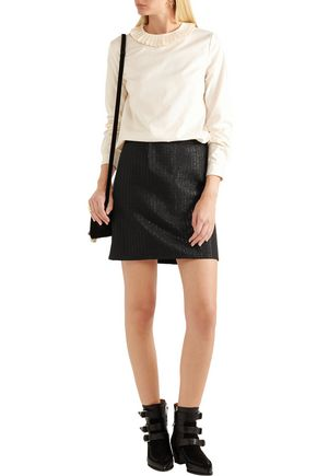 A.P.C. Ada metallic jacquard mini skirt