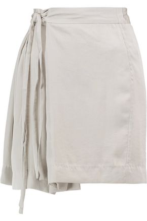 ISABEL MARANT ÉTOILE Hudson belted satin-crepe mini skirt