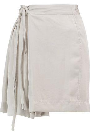ISABEL MARANT ÉTOILE Hudson belted satin-crepe mini skirt