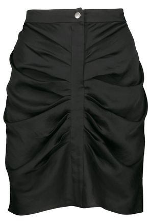 ISABEL MARANT ÉTOILE Hotta draped gathered crepe-satin mini skirt
