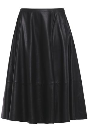 DROMe Pleated leather skirt